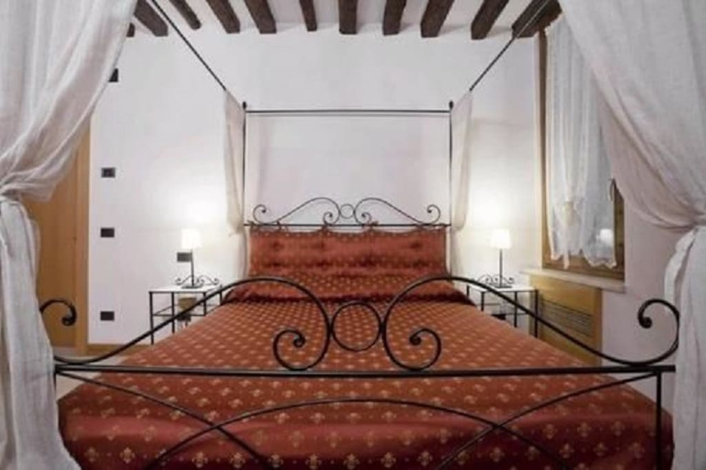 Four-posted bed
