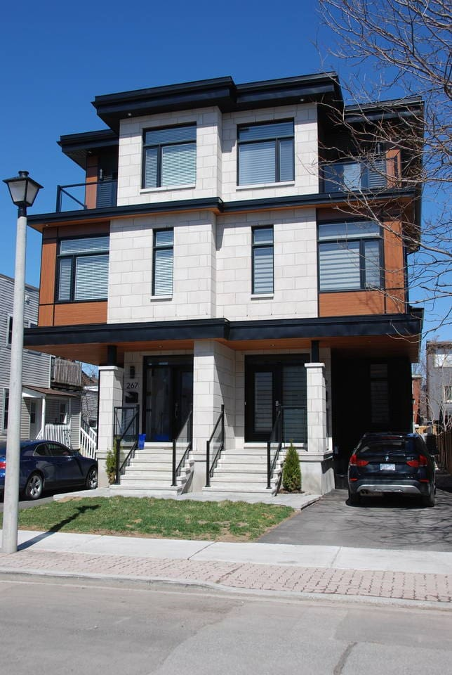 Basement apartment is accessible by the private side door on the right side of the house.