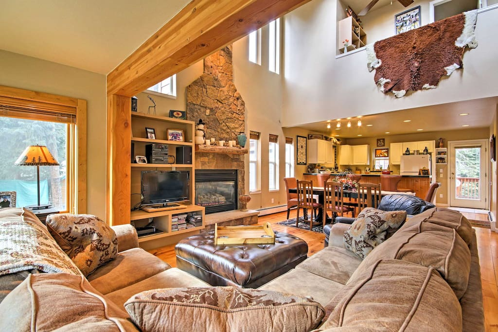During your downtime, kick back and relax on the comfy couches in the spacious living area.