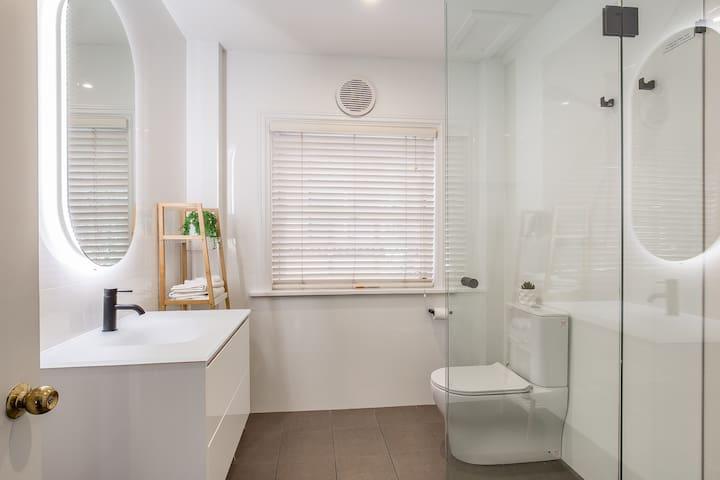 Brand new bathrooms with designer details.