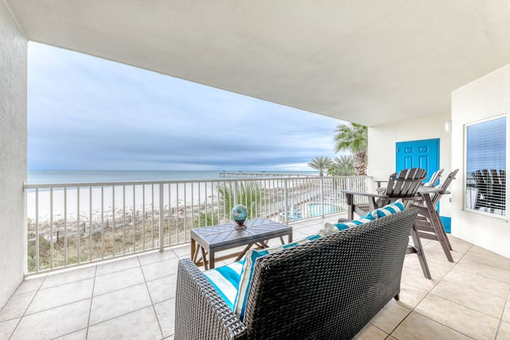 Unique Gulf-front condo w/ beach access, great view & shared pools/hot tub!
