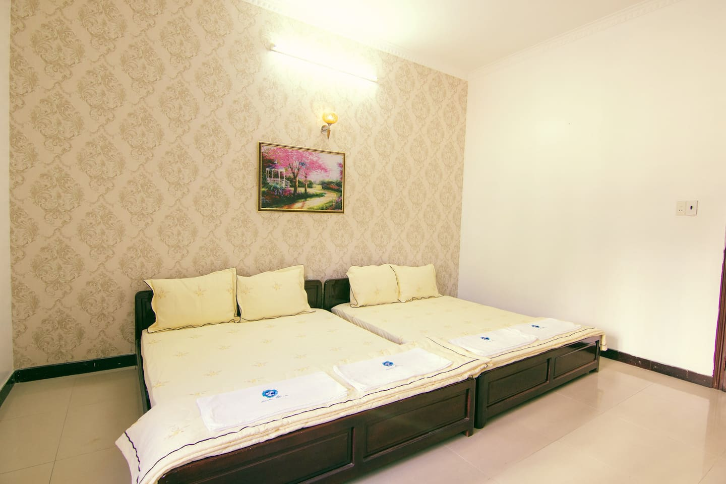 Bedroom 304 has two comfortable double beds for great night's sleep
