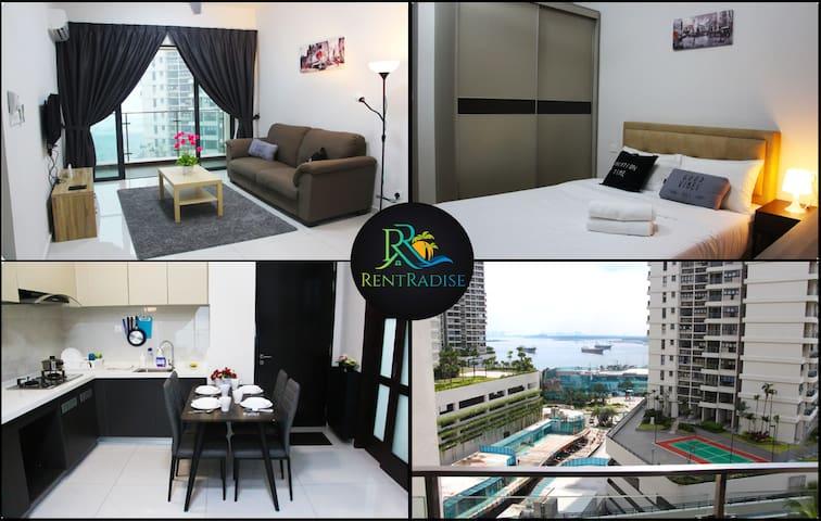 ❤️⭐【Strait View】RentRadise Quin Suite【Danga Beach】