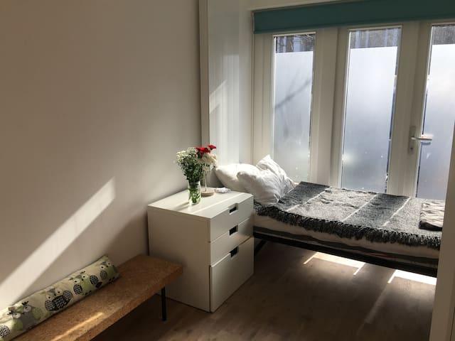 Modern, bright room