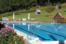 Belvedere, (Gernsbach), Ferienwohnung, 46qm, Garten, 1 Schlafzimmer, max. 4 Personen