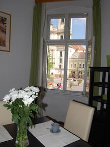 Anna's Main Sqare Spacious Flat with Panorama - Eger - Apartemen