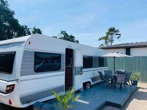 Stunning cosy caravan on the Llyn Peninsula