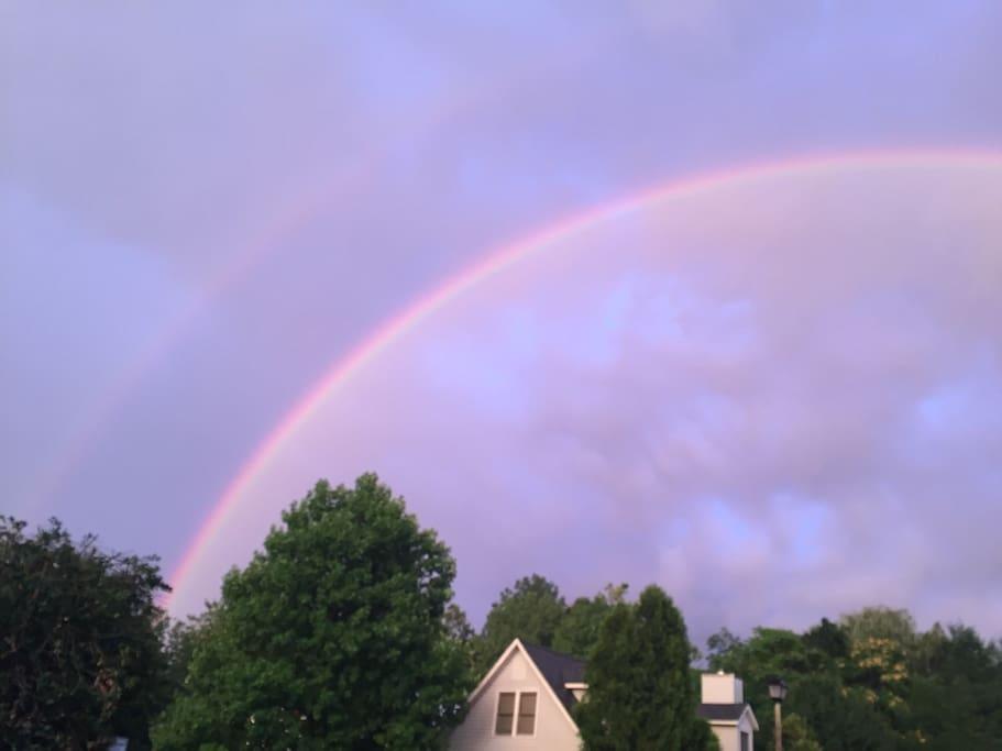 Double Rainbow over the neighborhood