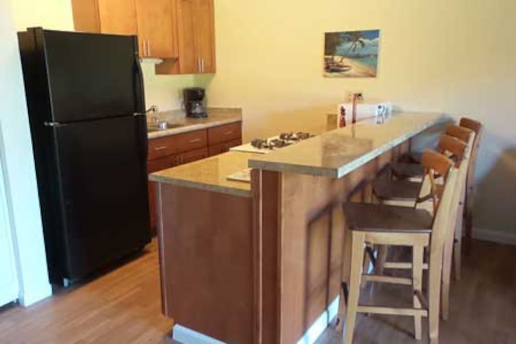 Kitchen counter with 4 Chairs