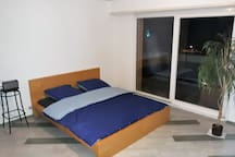 Room n°1 - 160 * 200 cm bed with balcony and view on the lake