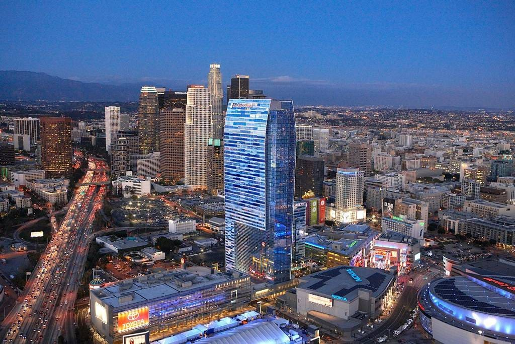 View of Downtown Los Angeles.