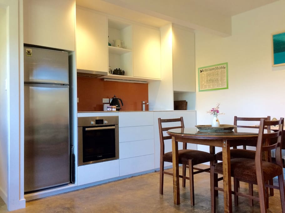New kitchen with retro dining furniture