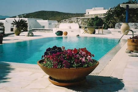 MYKONOS Luxury Villa BLU + POOL Sea View Sleeps 6 - Mykonos