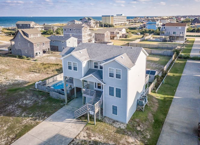K1119 Sea-esta! Oceanside Home with Private Pool and Large Fenced in Yard! | 6 Bedroom, 4 Bathroom