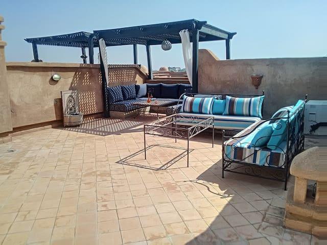Bel Appartement terrasse Marrakech, golf, piscines