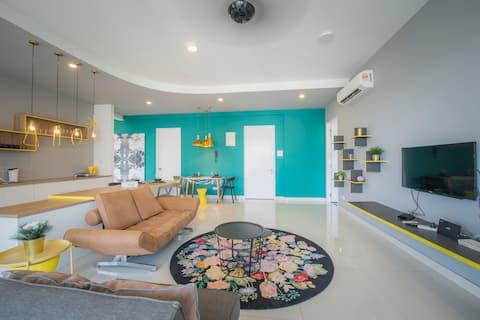 The Luxe ★ Arte S ★ FREE WIFI @ 3房式豪华公寓