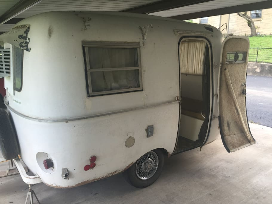 Camper under carport