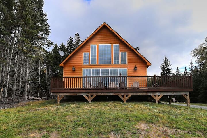 Blais Mountain Cabin - Private new cabin with incredible views of Rangeley Lake