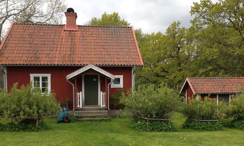 Gammal gård i byn Hult, Ydre kommun