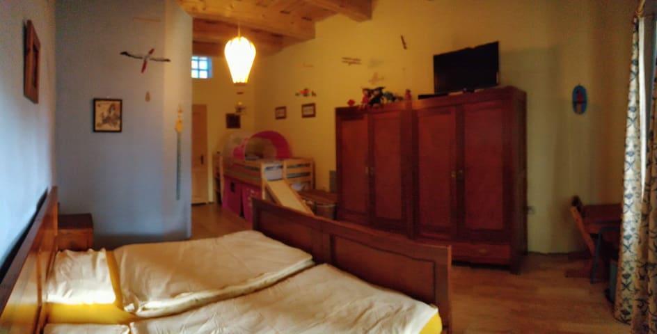 Blue family bedroom