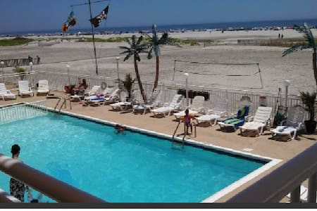 Spectacular View True Beach Front with  Pool - Wildwood Crest - Condomínio