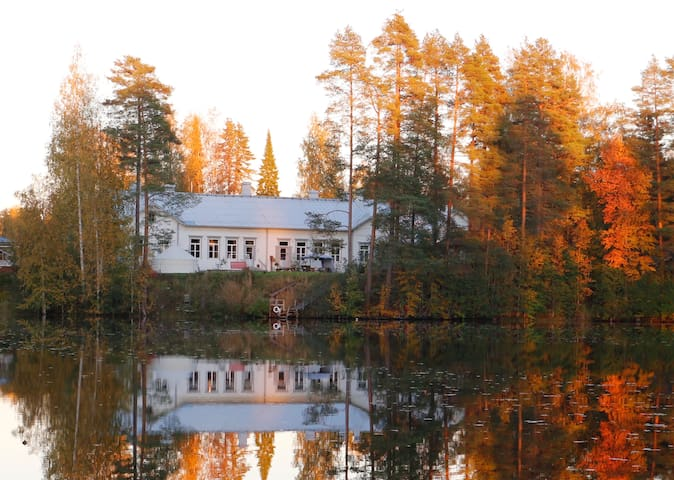 Rooms in an old school building on a lakeside - Juupajoki