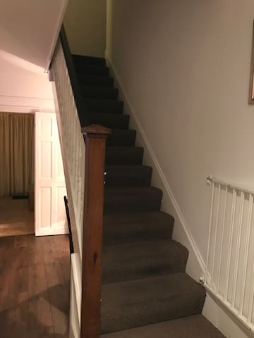 The stairs to the room