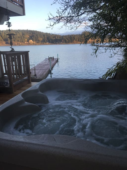 New hot tub and enclosed deck