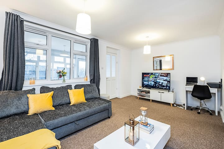 Living room with Flatscreen TV & free Netflix
