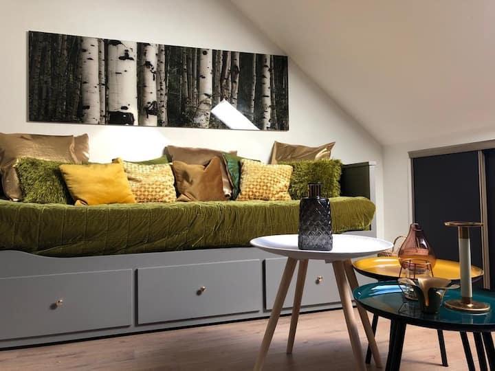 Appartement cosy chaleureux et contemporain