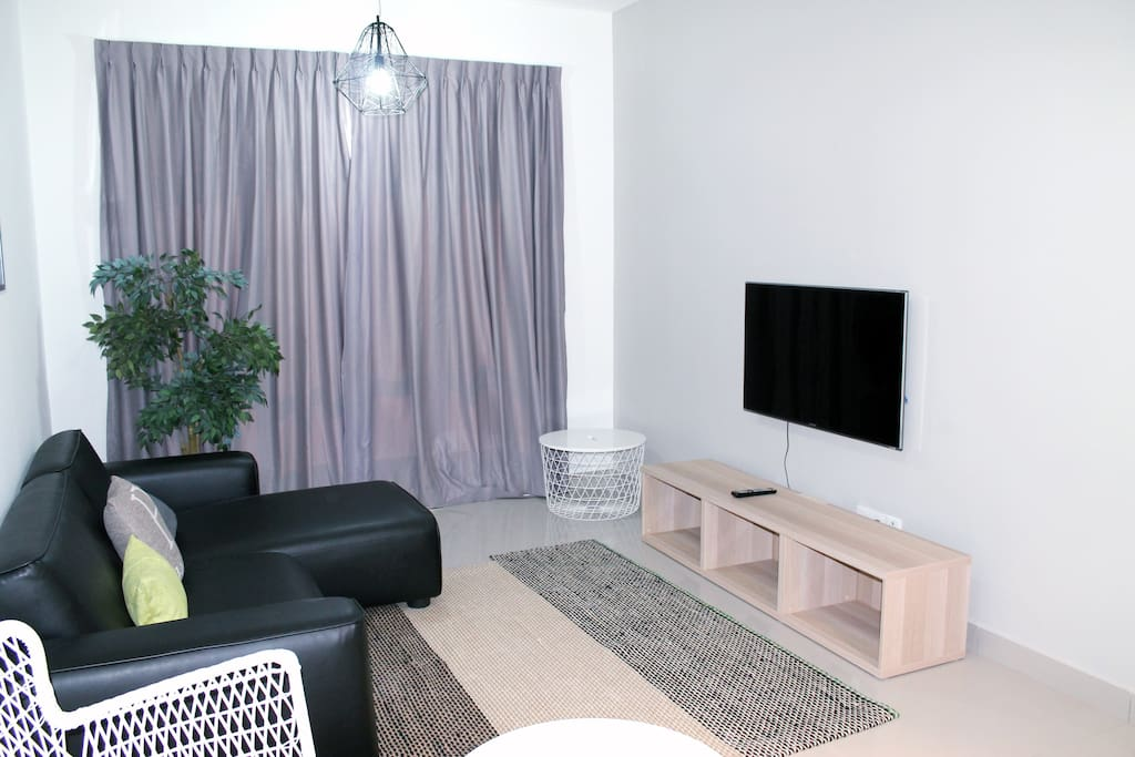 Living Room with LED TV (Astro connection, uptp 50 plus channels)