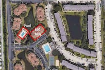 Location of condo and pool/clubhouse