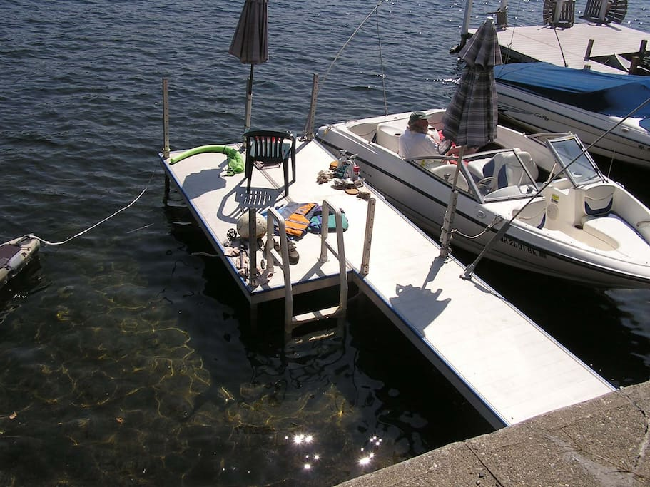 View of Dock from Parking Area