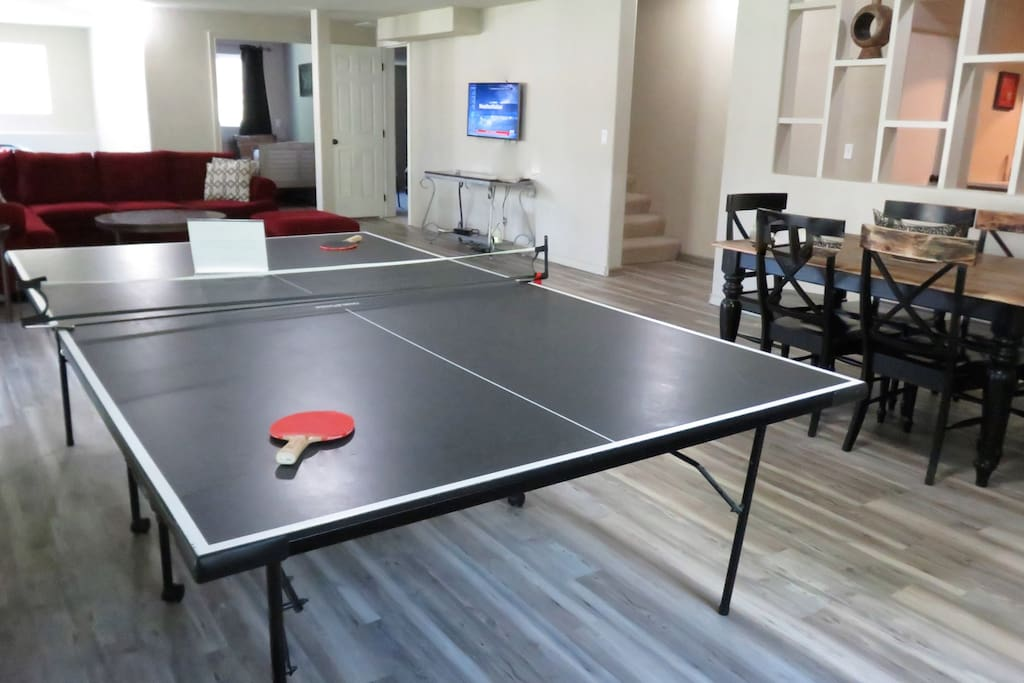Ping Pong anyone? Or maybe Air Hockey instead? Perhaps sit on a patio watching the deer and forest wildlife? All this and just minutes to Downtown.