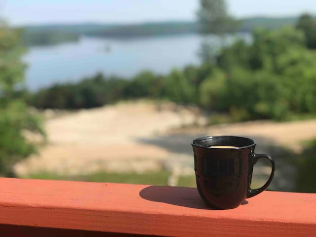Start your day off right with a breath of fresh air on our spacious back deck while you enjoy your morning coffee and the unforgettable view!