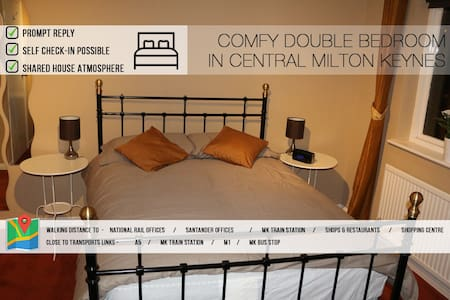 Modern Double Bedroom In Central MK - Great Holm - House