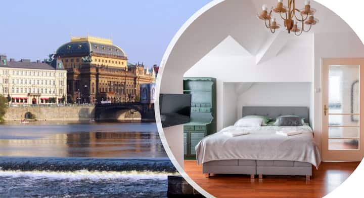 Central Kampa apartment with amazing view