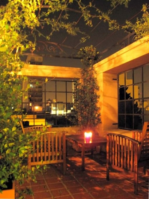 The terrace - lovely to sit there on a warm night.