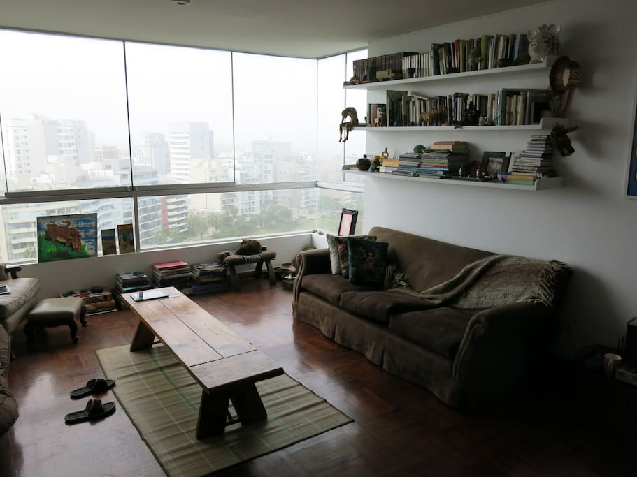 Living Room (on a cold and foggy day, usually it is very sunny)