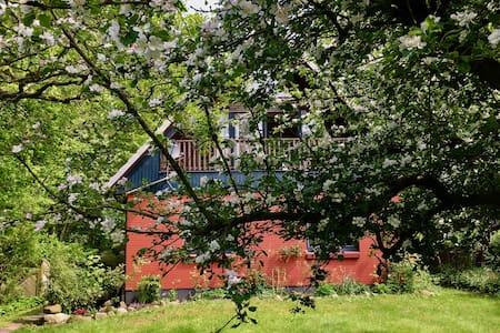 Schlei: Schönes Ferienhaus in Gunneby mit Garten