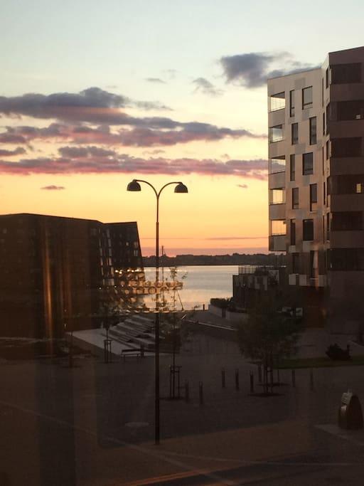 Nabolaget,utsikt fra vinduet