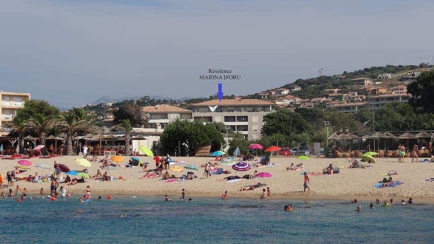La résidence vue de la plage du Lido