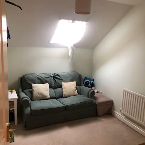 Double sofa bedroom 3rd floor. Has tv.