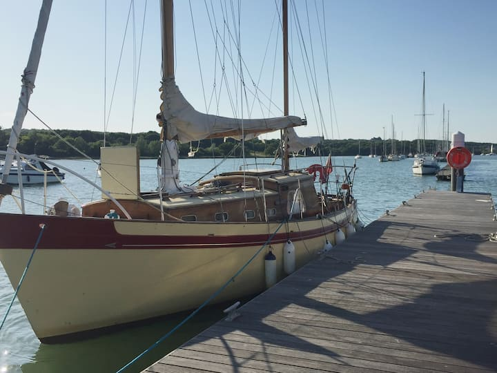 Classic ,Wooden Yacht , full of character