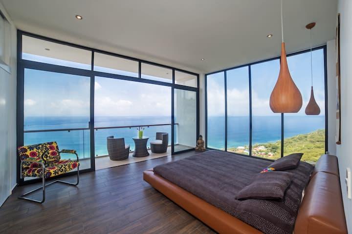 Villa Surya -6 BDRM, Breathtaking Ocean View, pool