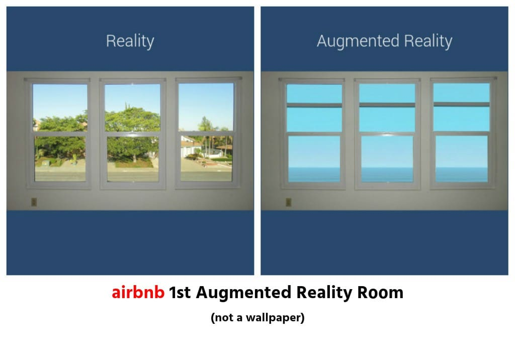 I converted the Street View from the Bedroom Window into Ocean View using Sunlight. Reality vs Augmented Reality.