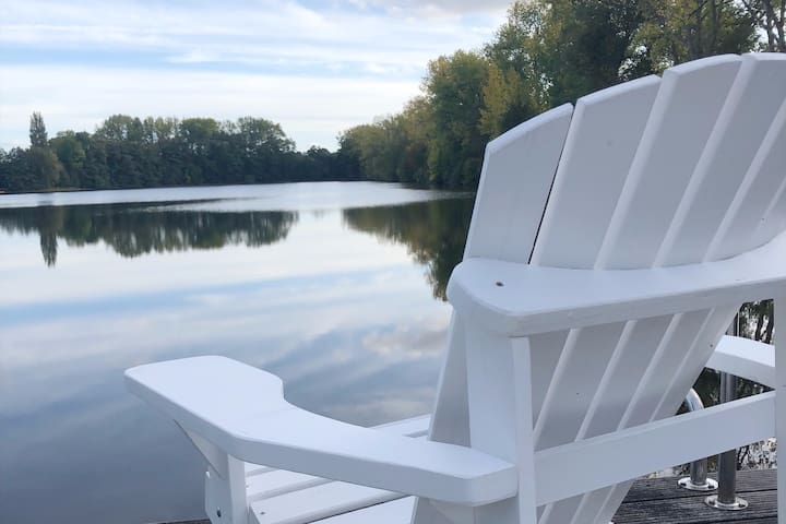 Design house at the lake