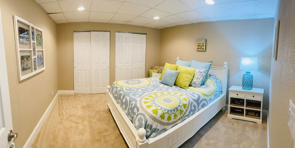 Master Queen Bedroom with Dual Closets