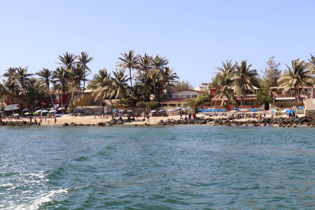 Arrivée 2ème plage sur l'ile de Ngor