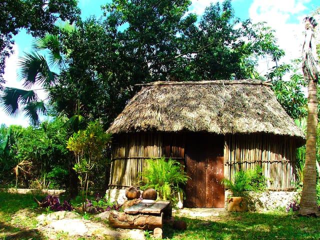 Cabaña Maya   con piscina, Akil, Ruta Puuc